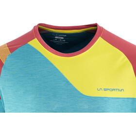 La Sportiva TX Combo Evo T-shirt Herr tropic blue/cardinal red